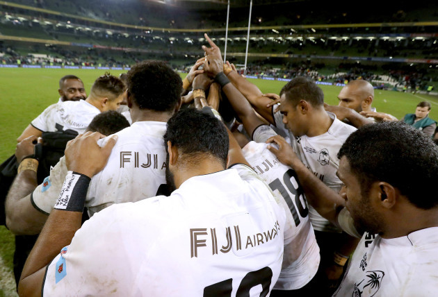 The Fiji team after the game