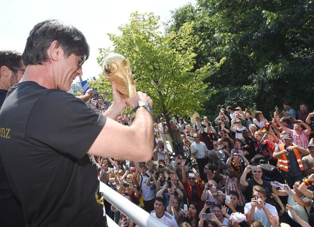 World Cup 2014 - Team German arrives back in Berlin