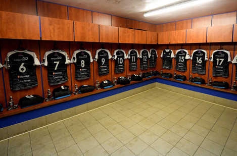 A view of the Ospreys changing room