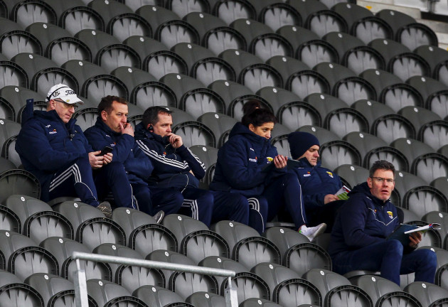 Davy Fitzgerald with his management in the stand