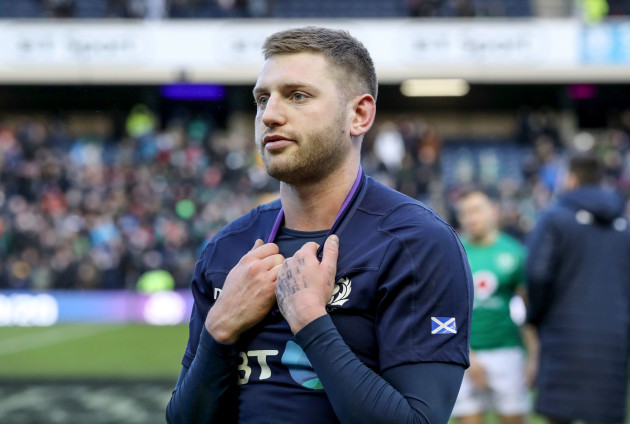 Finn Russell dejected after the game