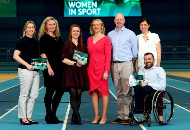 Mary O'Connor, Kelli O'Keeffe, Lynne Cantwell, Sarah Keane, John Sweeney, Joanne Cantwell and John Fulham