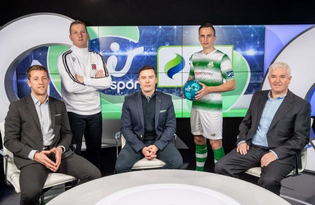 Shane Supple, Vinny Perth, Conor Morris, Aaron McEneff and Con Murphy