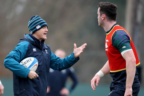 Joe Schmidt with James Ryan