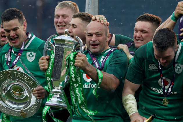 Ireland's Rory Best celebrates winning the grand slam