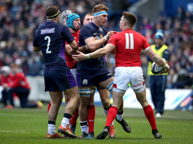 Tempers flair between Jamie Ritchie and Josh Adams