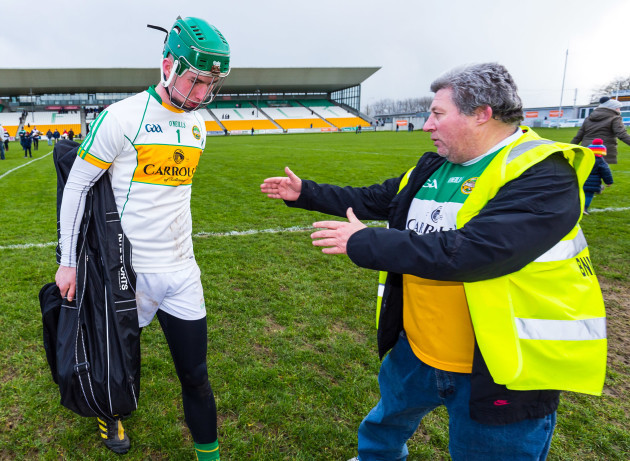 Eoghan Cahill is consoled by Mick McDonagh