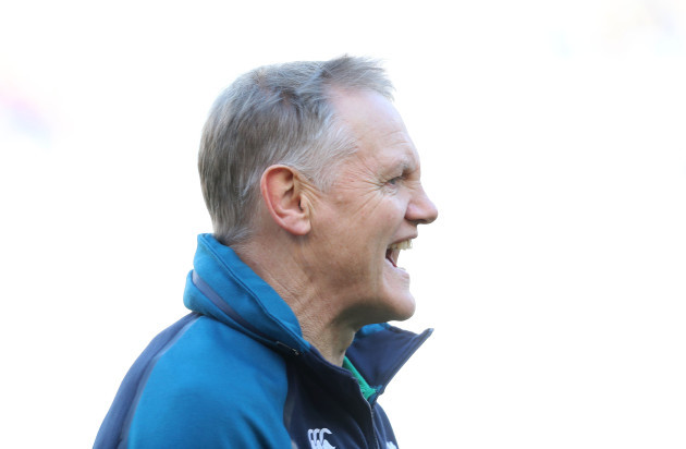 Joe Schmidt before the game