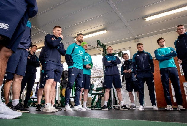 Andrew Conway, Rob Kearney, Jonathan Sexton, Keith Earls, Garry Ringrose, Jacob Stockade and Chris Farrell