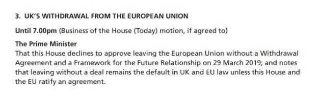 no deal motion