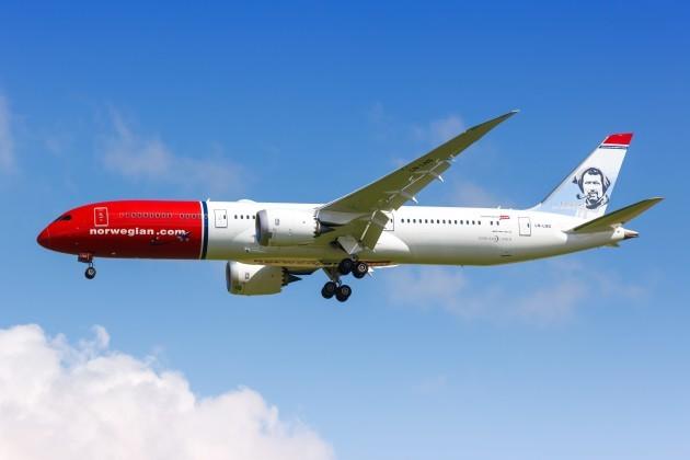 Norwegian Boeing 787-9 Dreamliner airplane