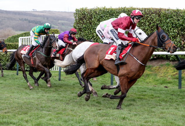 Keith Donoghue on Tiger Roll during the Glenfarclas Chase