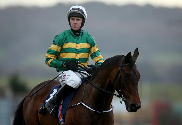 Mark Walsh on Sir Erec wins the Tattersalls Ireland Spring Juvenile Hurdle