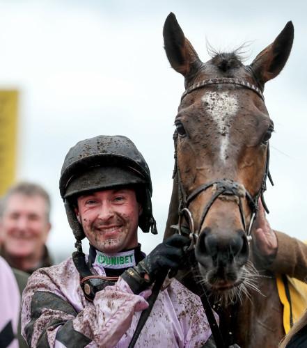 Nico de Boinville celebrates winning with Pentland Hills