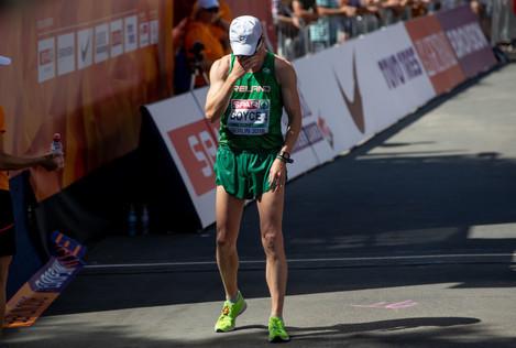 Brendan Boyce after finishing 19th