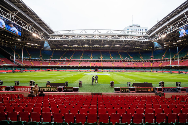 A view of the Principality Stadium ahead of the game