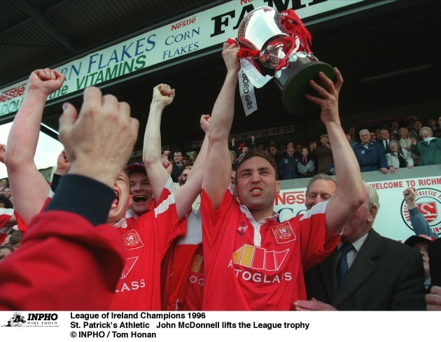 John McDonnell  St. Patrick's Athletic  League of Ireland Champions 1996