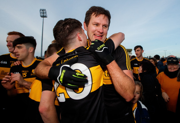 Jordan Kiely and Eoin Brosnan celebrate