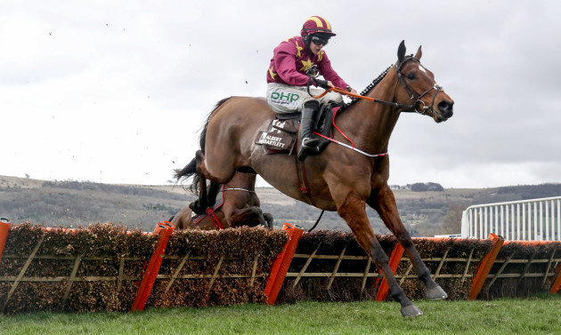 Rachael Blackmore onboard Minella Indo clears the last on the way to winning