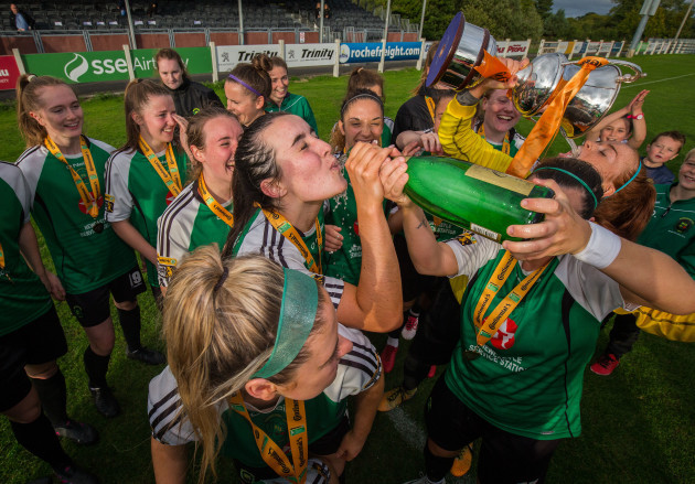 Niamh Farrelly celebrates after the game