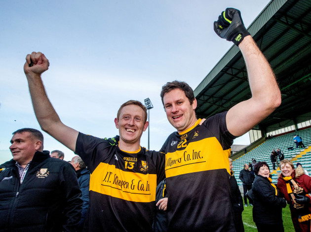 Colm Cooper and Eoin Brosnan celebrate