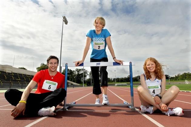 Brian Gregan, Derval O'Rourke and Kate Veale