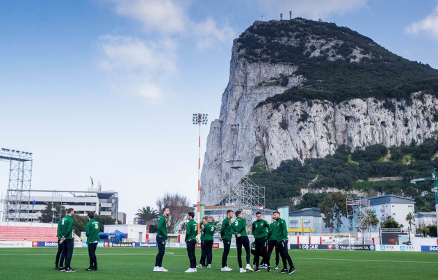 The Ireland team ahead of the game