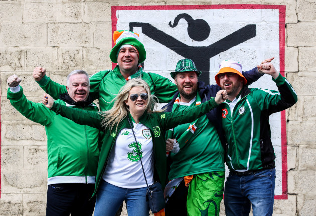 Ireland fans ahead of the game