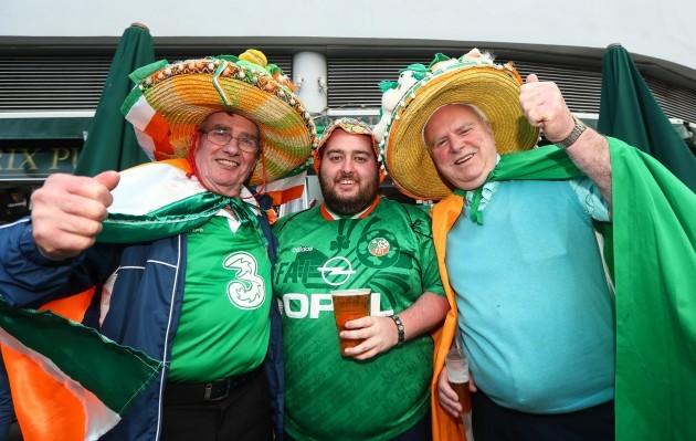 Frankie Moran, Peadar Conroy and Bobby Cunningham