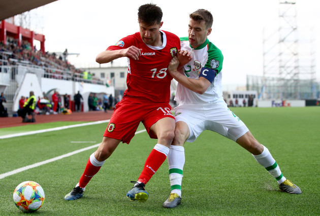 Anthony Hernandez and Seamus Coleman