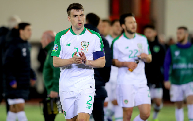 Seamus Coleman after the game