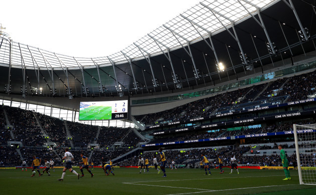 Tottenham Hotspur U18 v Southampton U18 - U18 Premier League - Test Event - Tottenham Hotspur Stadium