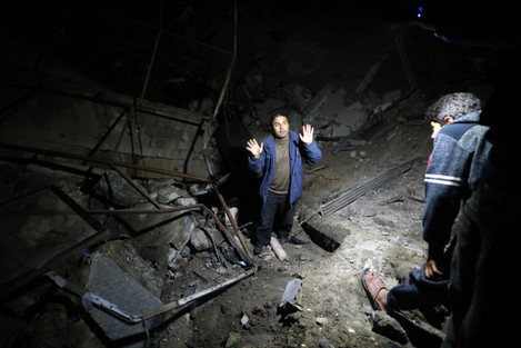 MIDEAST-GAZA CITY-AIR STRIKE
