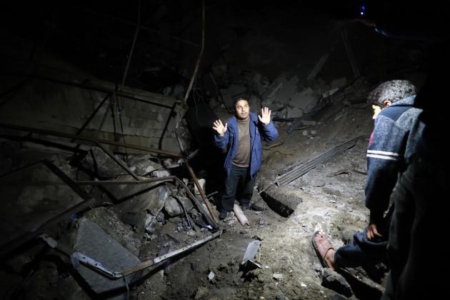 MIDEAST-GAZA CITY-AIR STRIKE