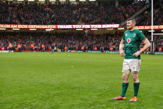 Peter O'Mahony dejected after the game
