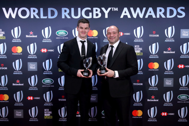 Johnny Sexton and Rory Best