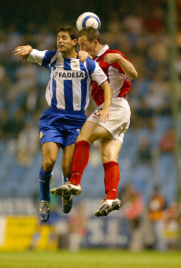 David Crawley with Victor Sanchez