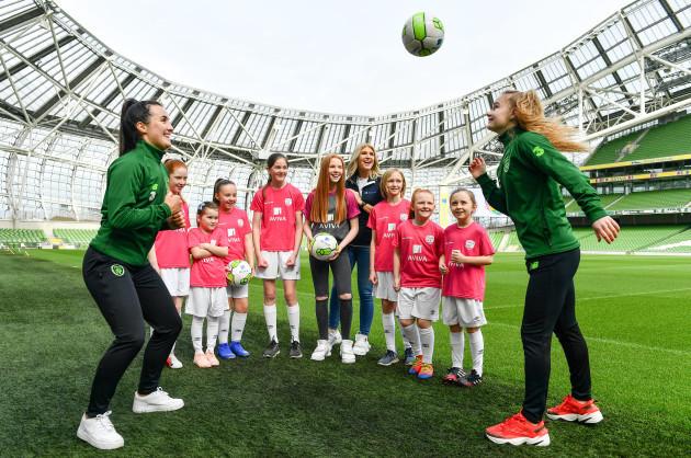 Aviva Soccer Sisters Easter Football Festival Launch
