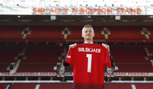 Ole Gunnar Solskjaer Photocall - Old Trafford