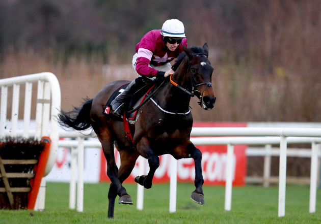 Jack Kennedy onboard Apple's Jade clears the last on his way to winning