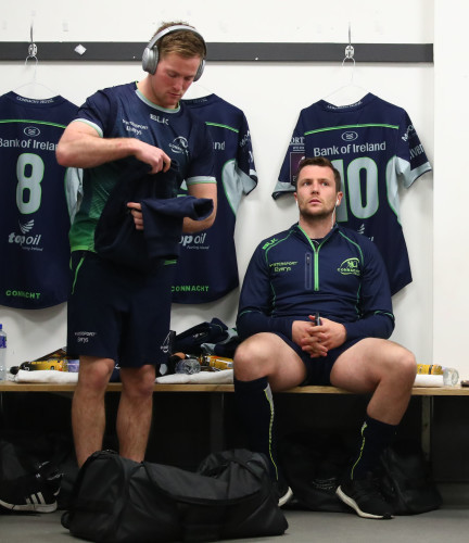 Kieran Marmion and Jack Carty before the game