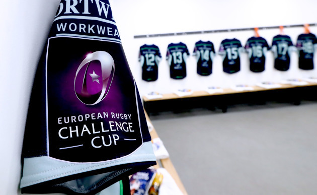 A view of the Connacht dressing room