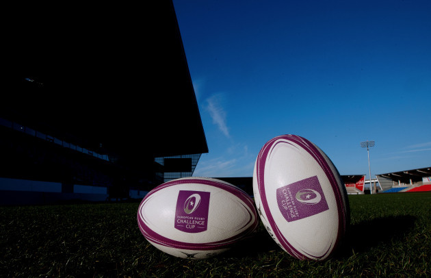 A view of Challenge Cup match balls