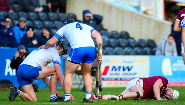 Joe Canning lays injured