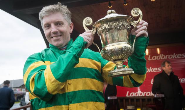 Noel D. Fehily celebrates winning