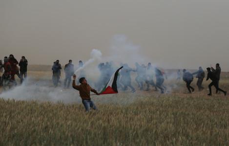 Palestine Israeli clashes in Gaza, Palestine - 30 Mar 2019