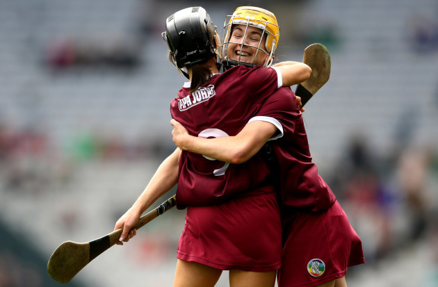 Aoife Donohue and Anne Marie Starr celebrate