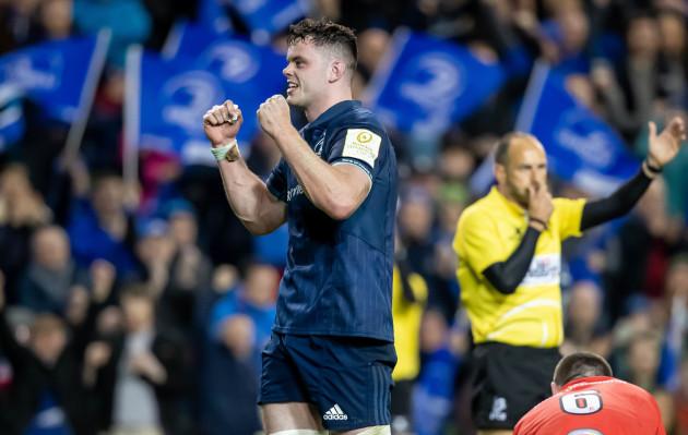 James Ryan celebrates at the final whistle