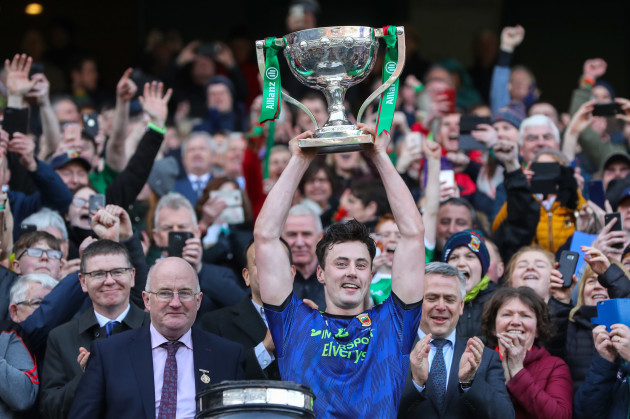 Diarmuid O'Connor lifts the trophy