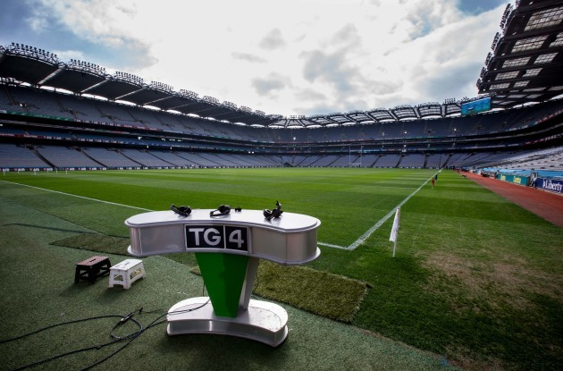 A view of Croke Park before the start of this afternoon's finals